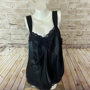 NWT NY collection black lace camisole size 1X